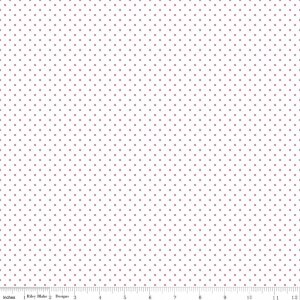Riley Blake Swiss Dot On White