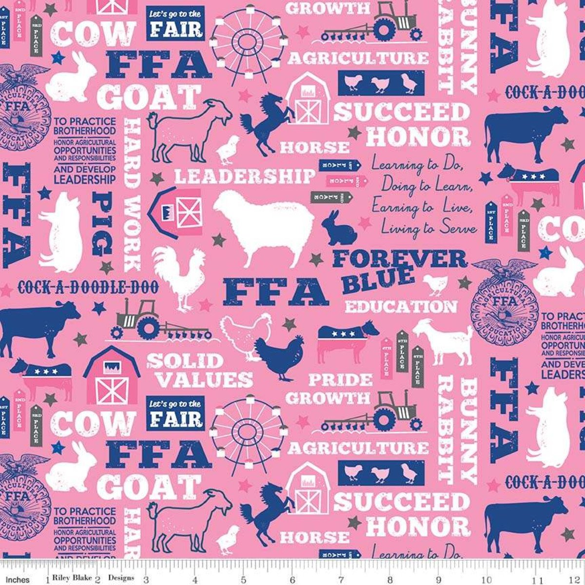 FFA Forever (Pink) by Riley Blake