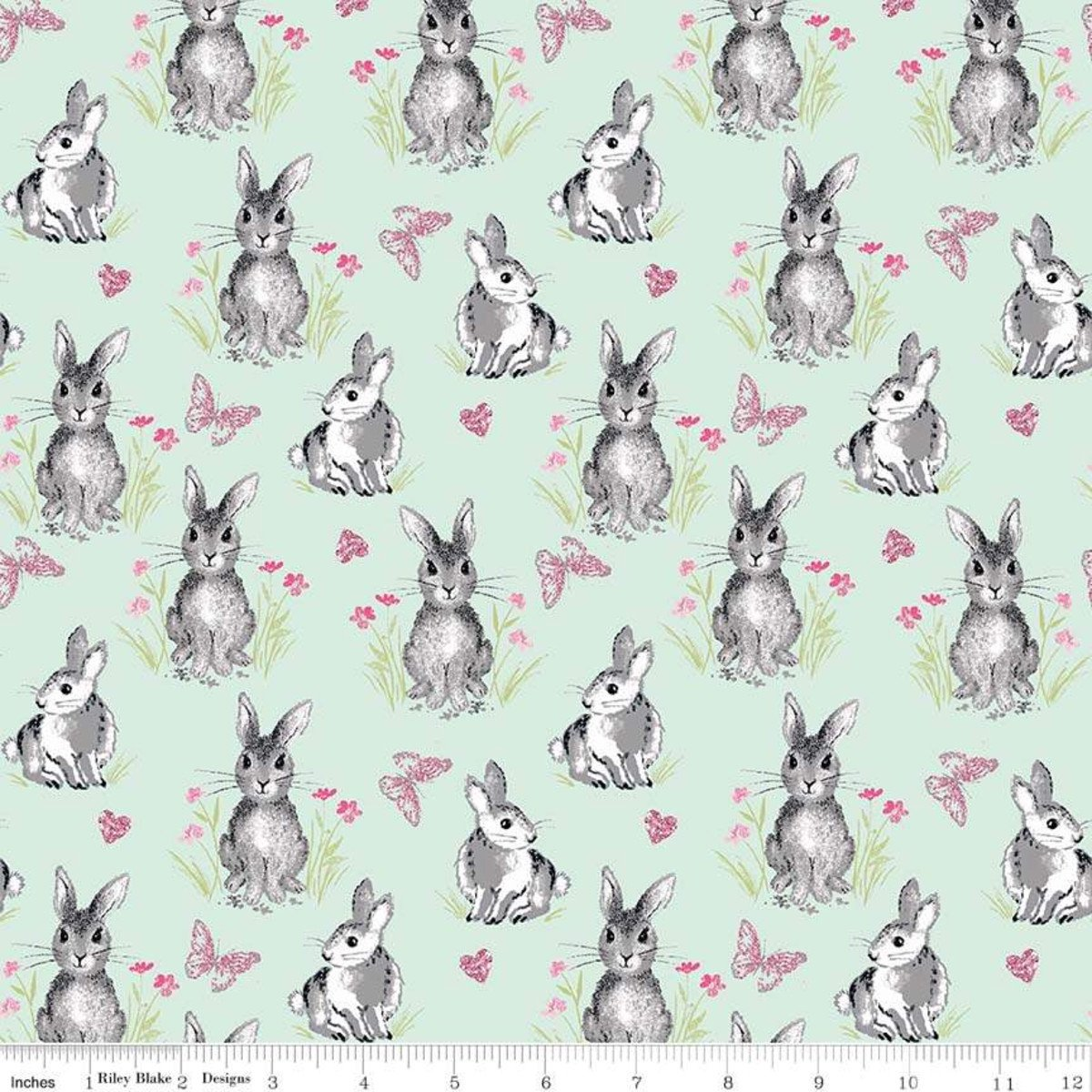 Riley Blake Pretty Bunnies and Flowers