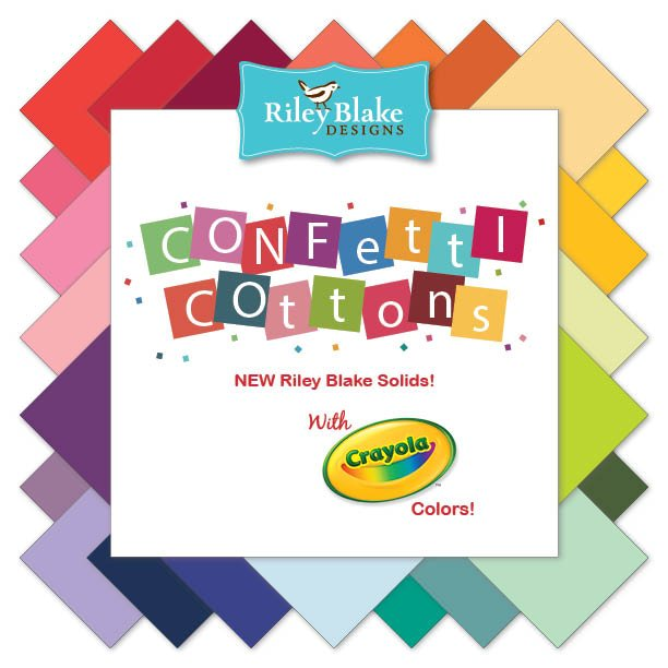 Riley Blake Confetti Cottons: Yellows and Greens