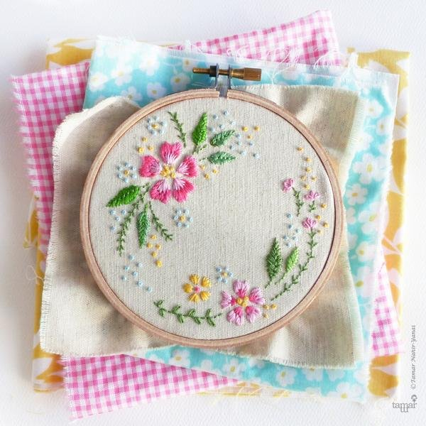 TamarNahirYanai - Circle of Flowers embroidery kit