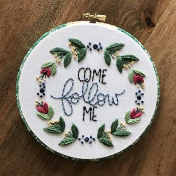 Lynny Lou - Come Follow Me embroidery pattern