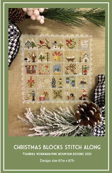 Christmas Blocks Stitch Along Pattern DIGITAL DOWNLOAD