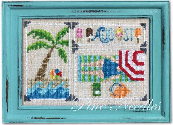 August Snapshot CP108 cross stitch pattern