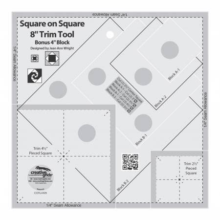 Creative Grids Square on Square Trim Tool 4 or 8