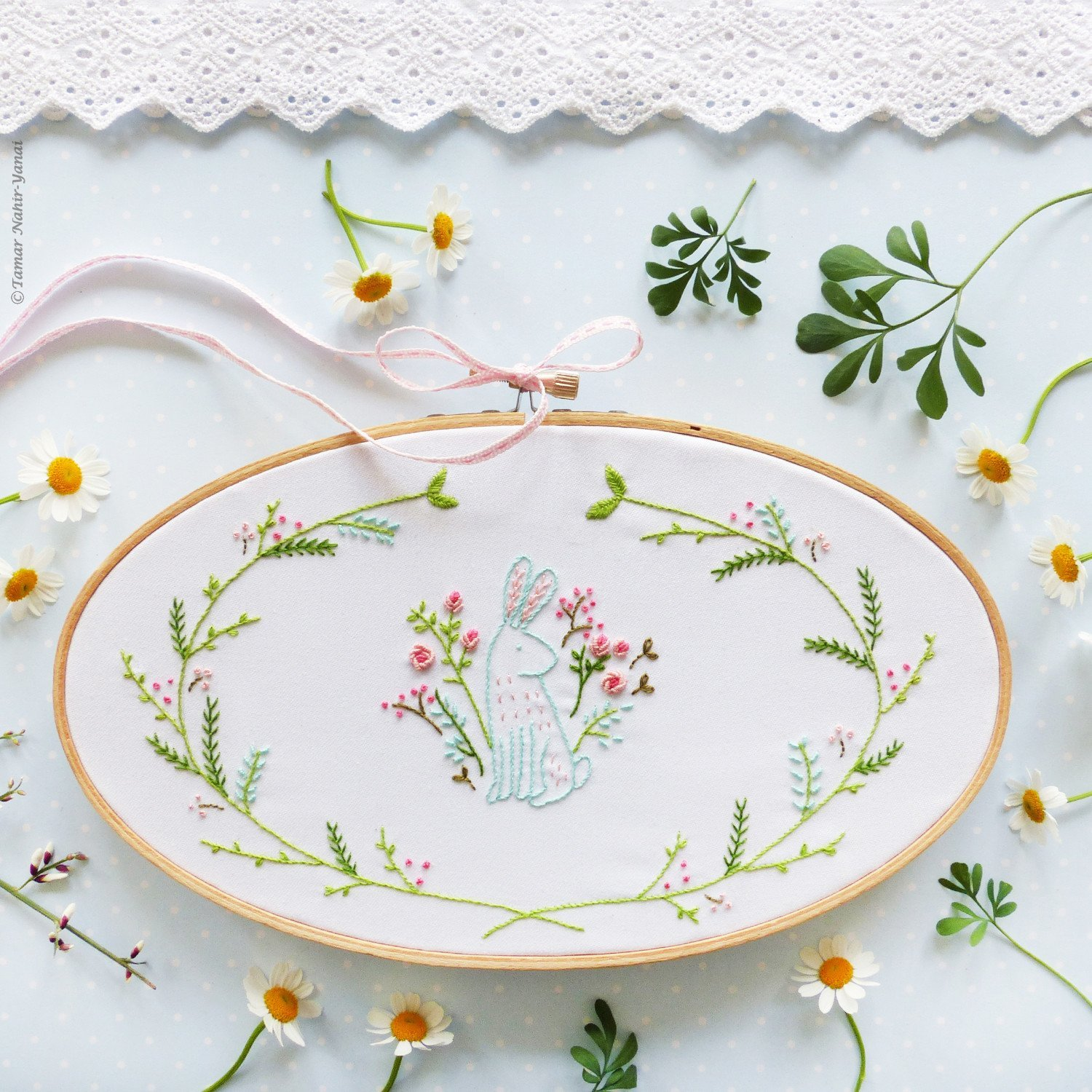 Easter Bunny Embroidery Kit