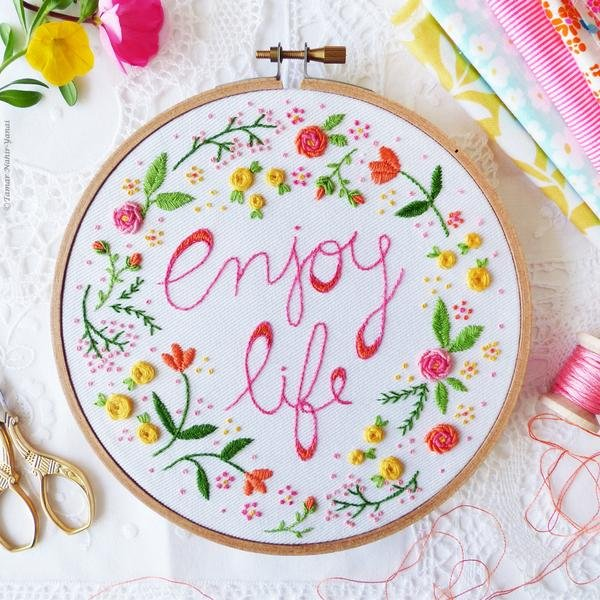 TamarNahirYanai - Enjoy Life Embroidery Kit