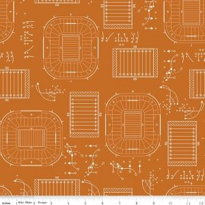 sports play f5891 orange flannel riley blake designs