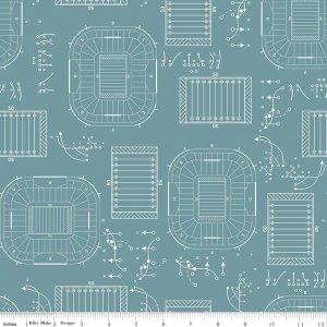 sports play f5891 teal flannel riley blake designs