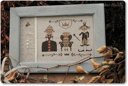 Madame Chantilly Halloween Royal Family - Cross Stitch Pattern