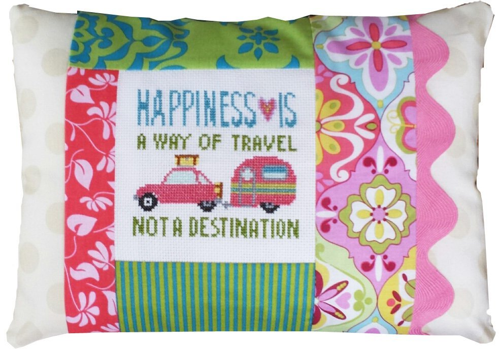 Happiness Is A Way Of Travel Pillow Kit