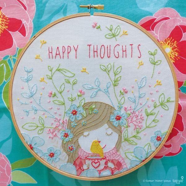 TamarNahirYanai - Happy Thoughts Embroidery Kit