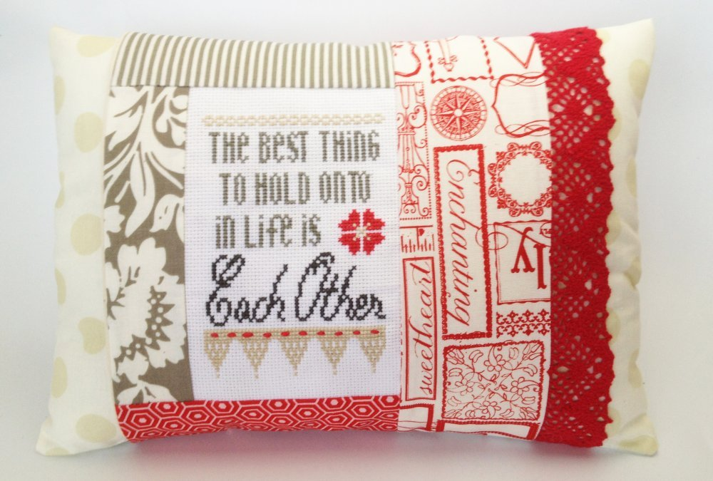 Hold Onto Each Other Pillow Kit-Words of Wisdom