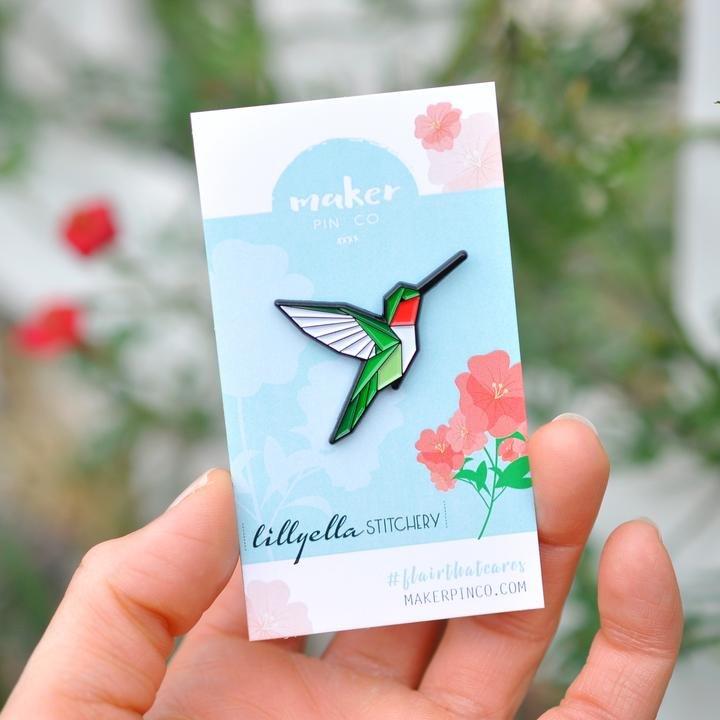 Sugar Baby Hummingbird Pin