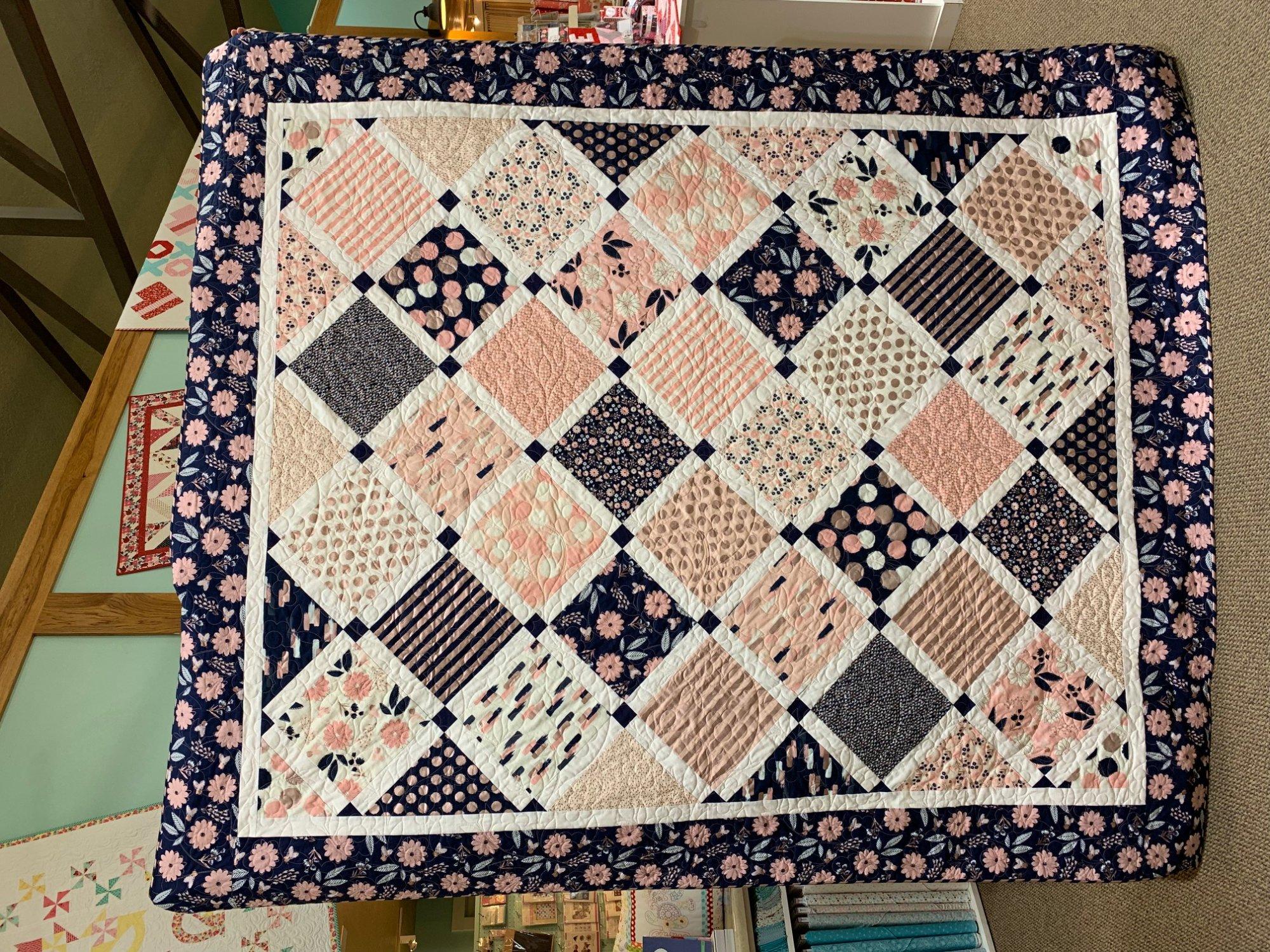 Lattice Blush Fabric Kit