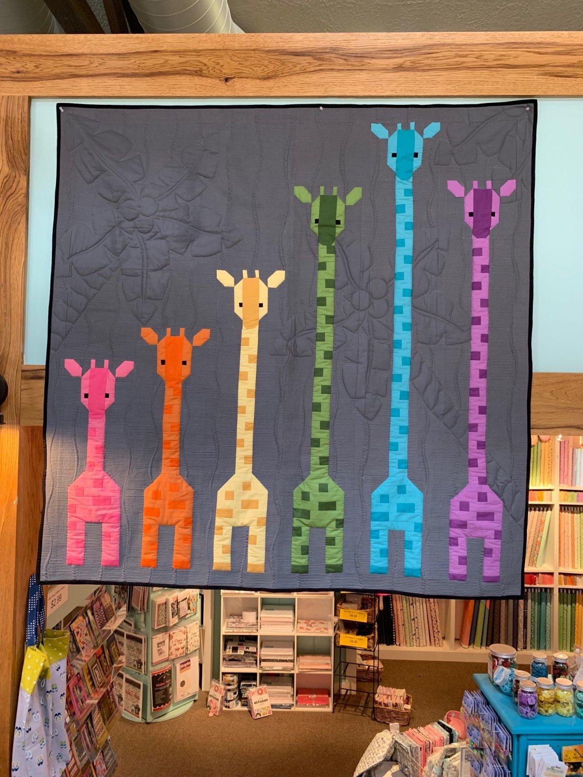 Giraffes In A Row Quilt Kit