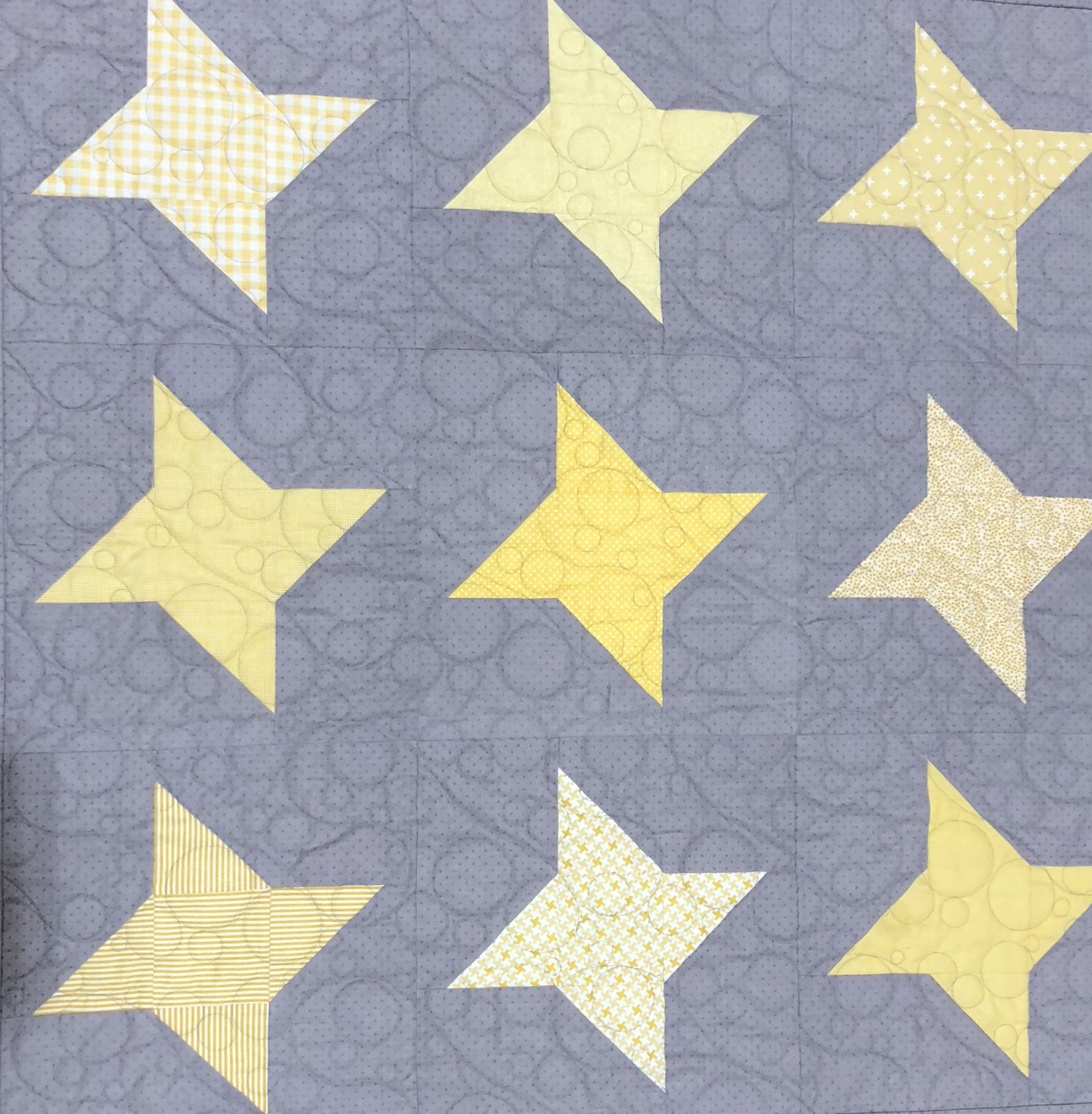 Star Fire Yellow/Gray Fabric Kit