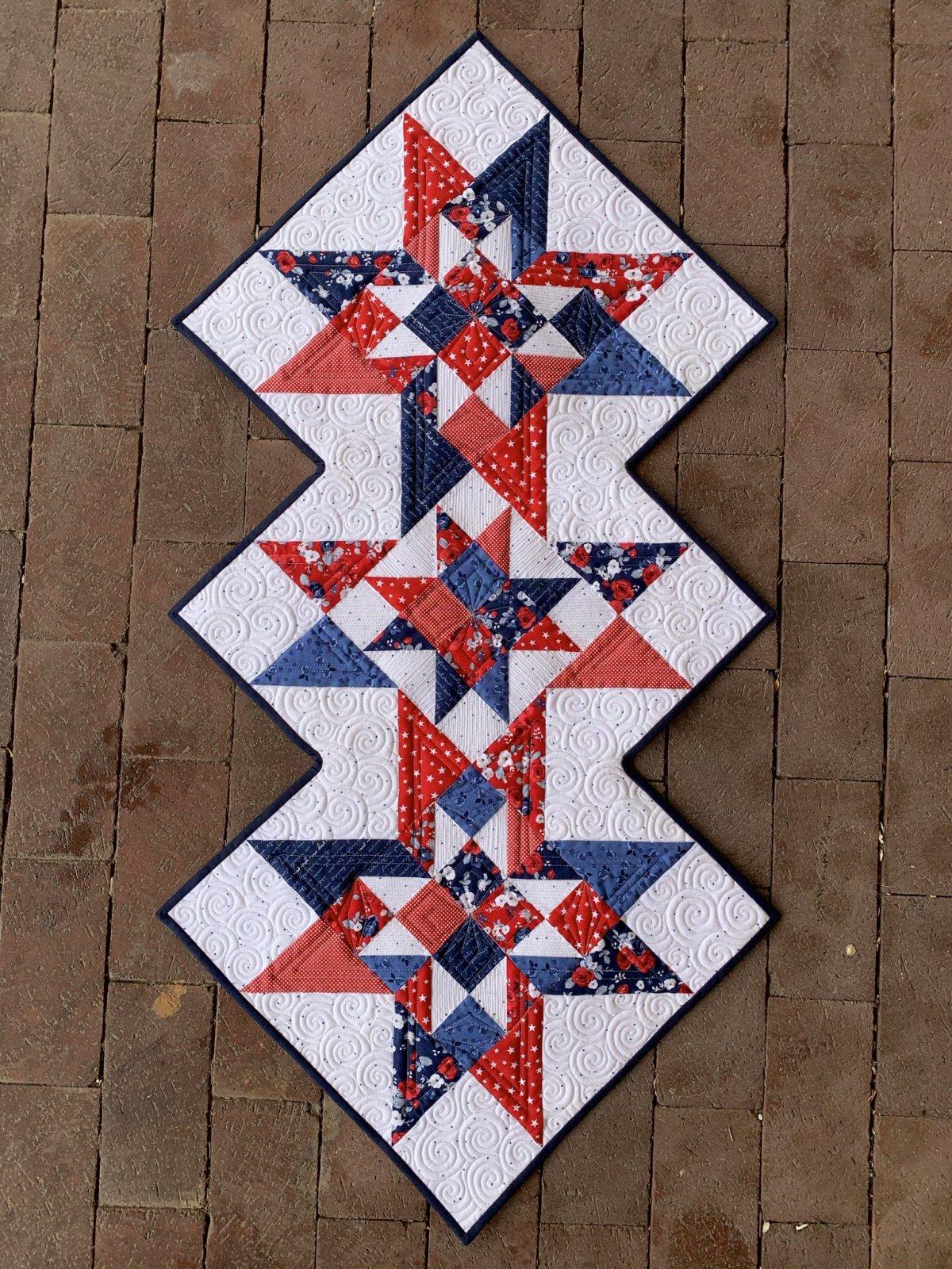 Americana Cottage Star Table Runner Kit