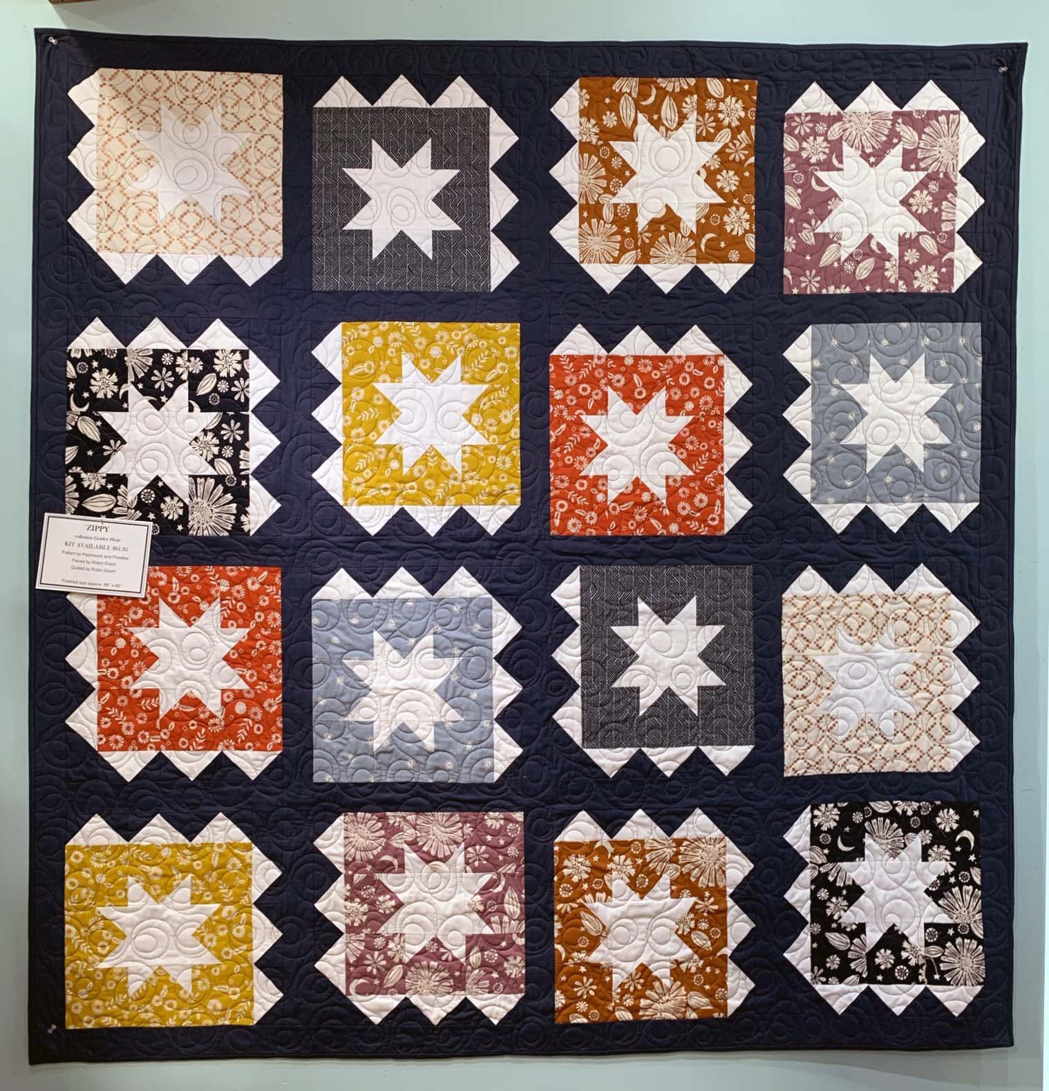 Zippy Quilt Kit featuring Ruby Star