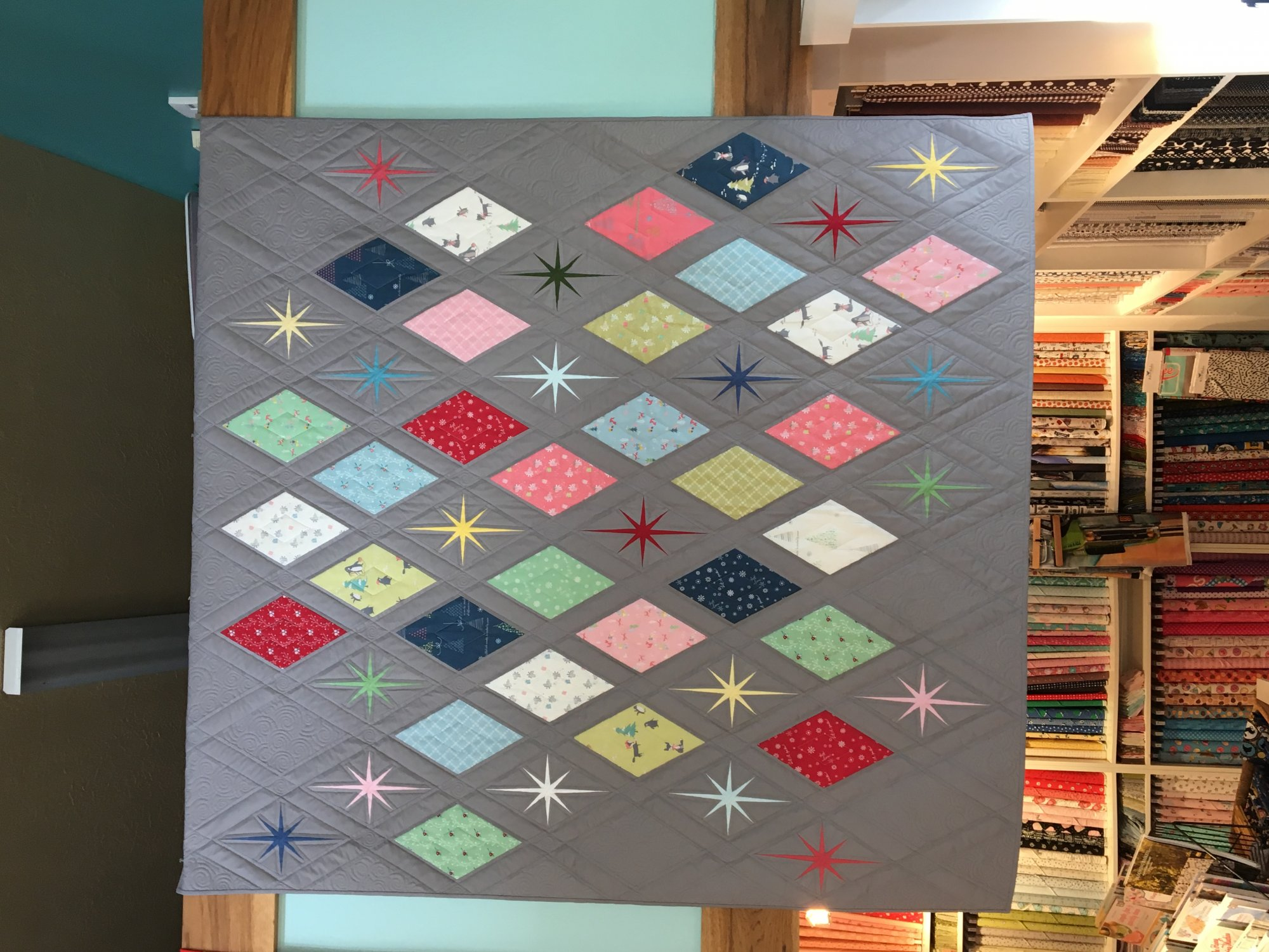 Atomic Starburst Quilt Kit