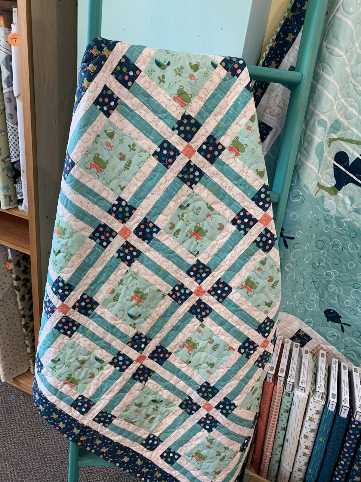 Welcome to My Pad Quilt Kit | Finished size: 47 x 47