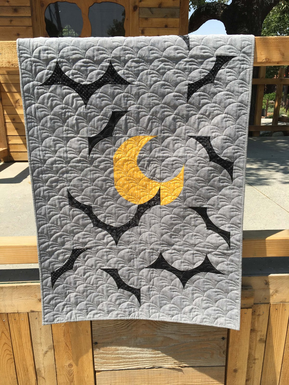 Bat Moon Rising Fabric Kit
