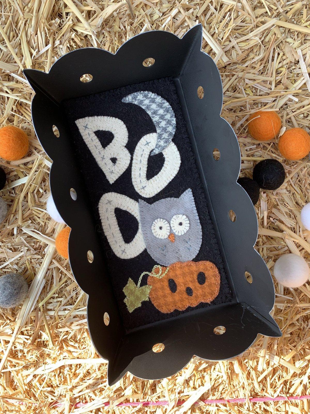 Boo Whoo! wool applique Digital PDF pattern   Sandra Workman/Pine Mountain Designs