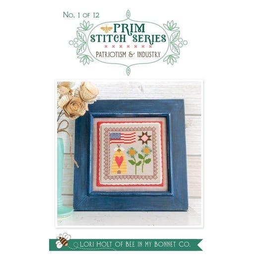 Patriotism & Industry - Prim Stitch Series Cross Stitch Pattern