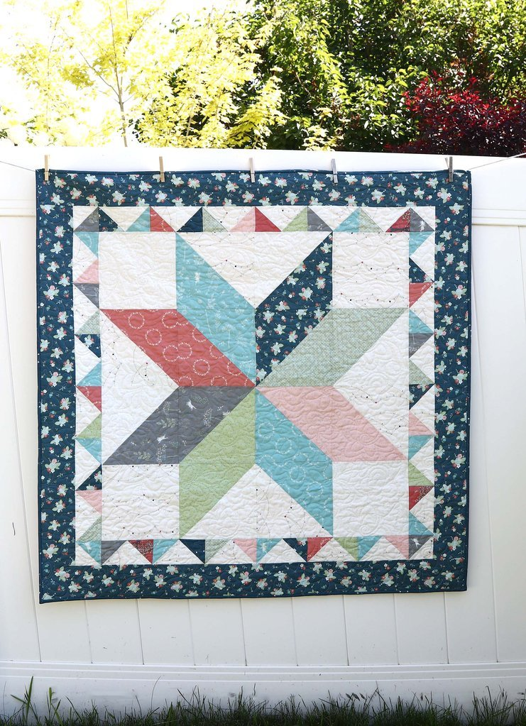 Lone Star Sawtooth Crib Quilt Kit