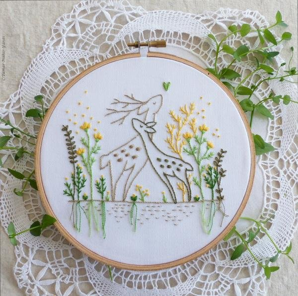 Love Story Embroidery Kit