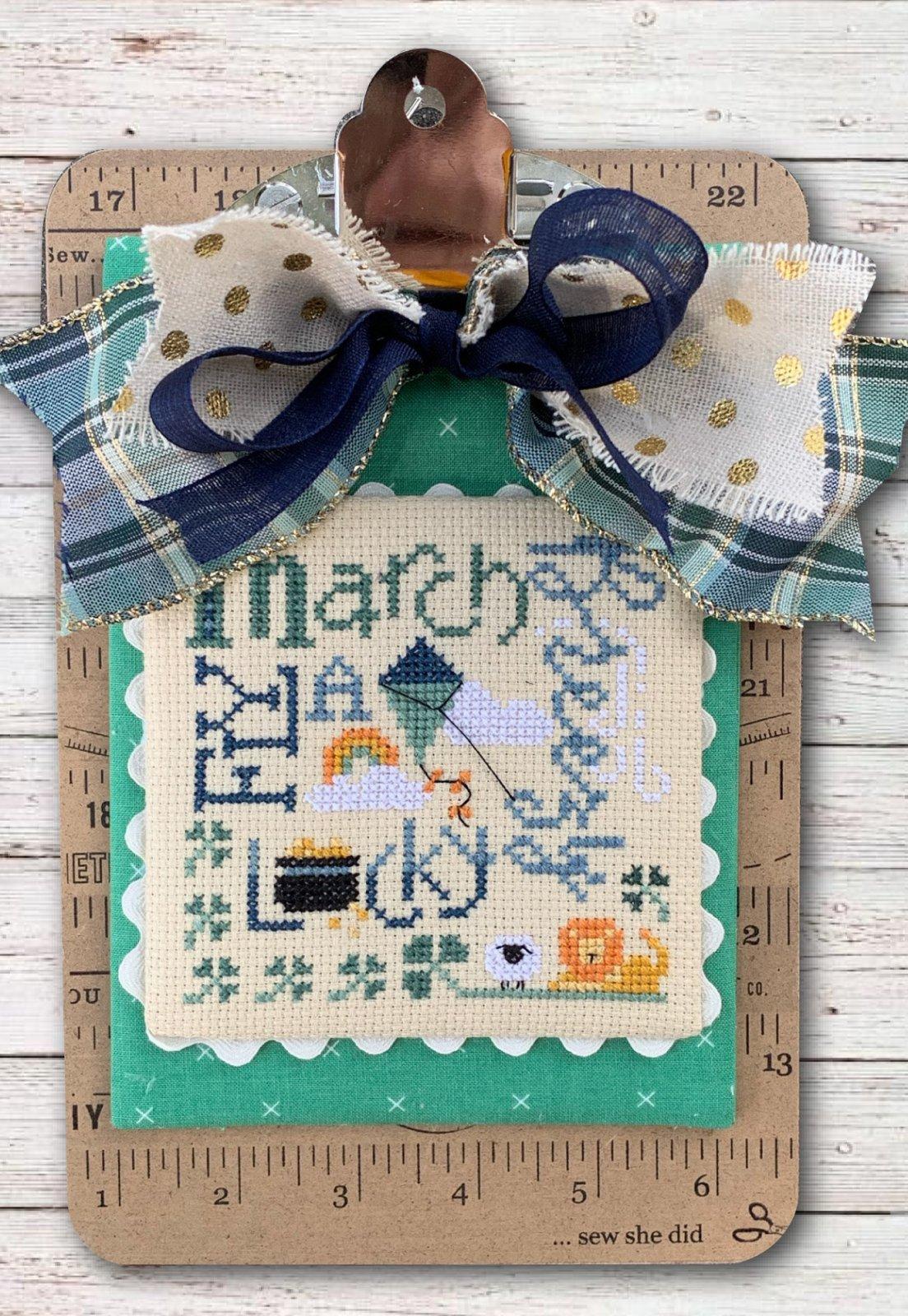 Typography Cross Stitch Club - March PDF downloadable pattern