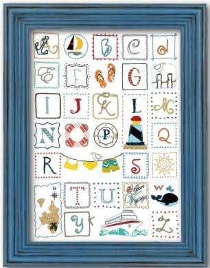 ABC's of Summer Nautical Alphabet Sampler