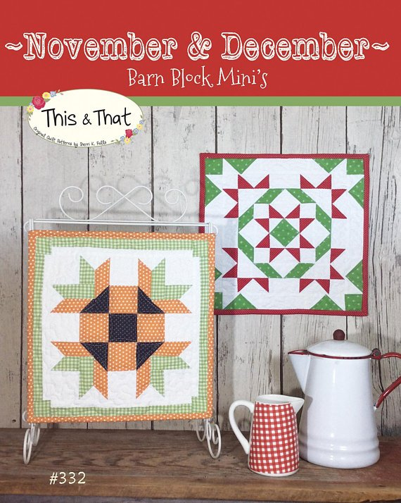 November & December Barn Block Mini's