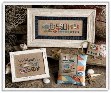 Red White & Beach - Lizzie Kate Cross Stitch Pattern