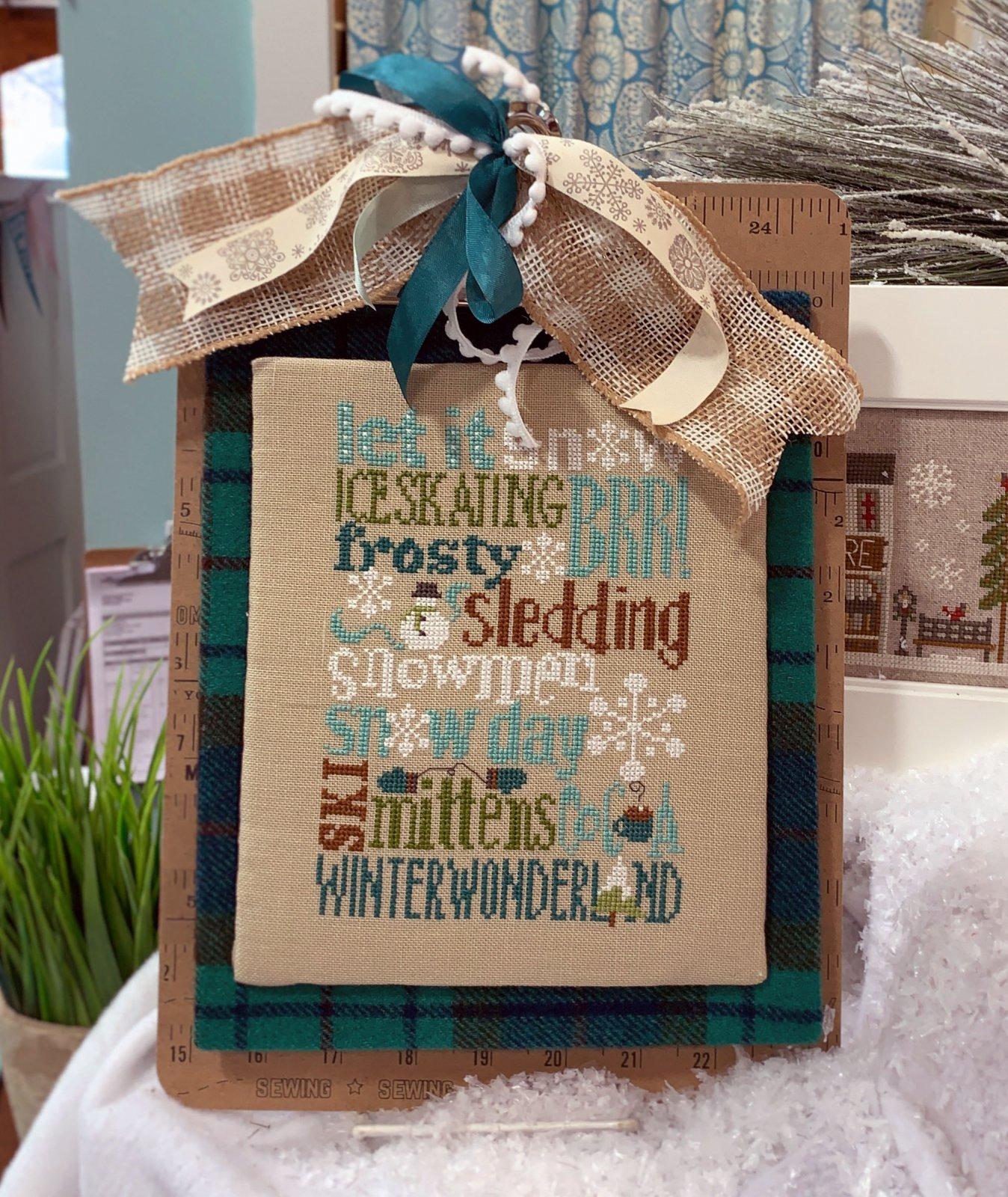 Winter Typography Pattern