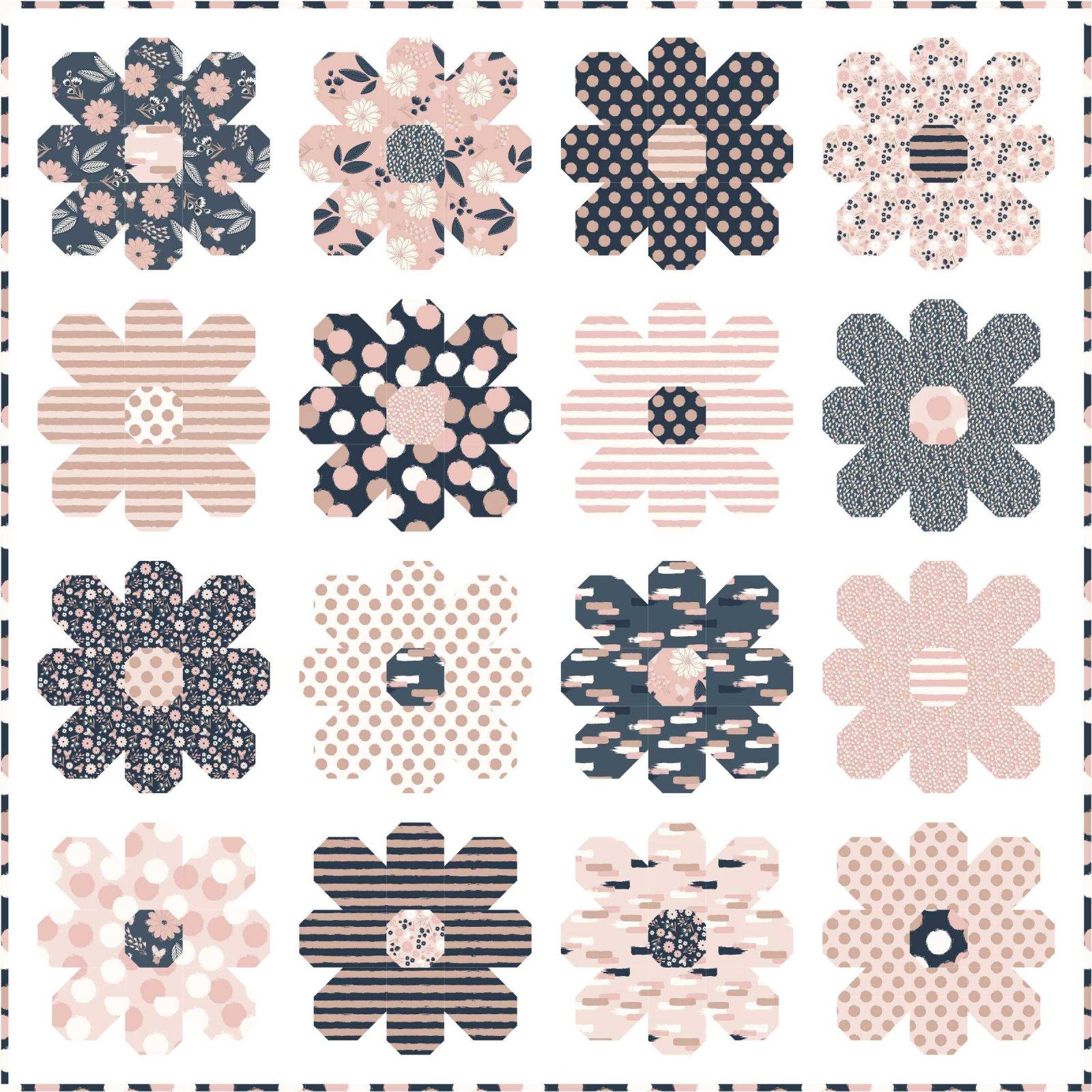 Flower Power quilt pattern by Kelli Fannin