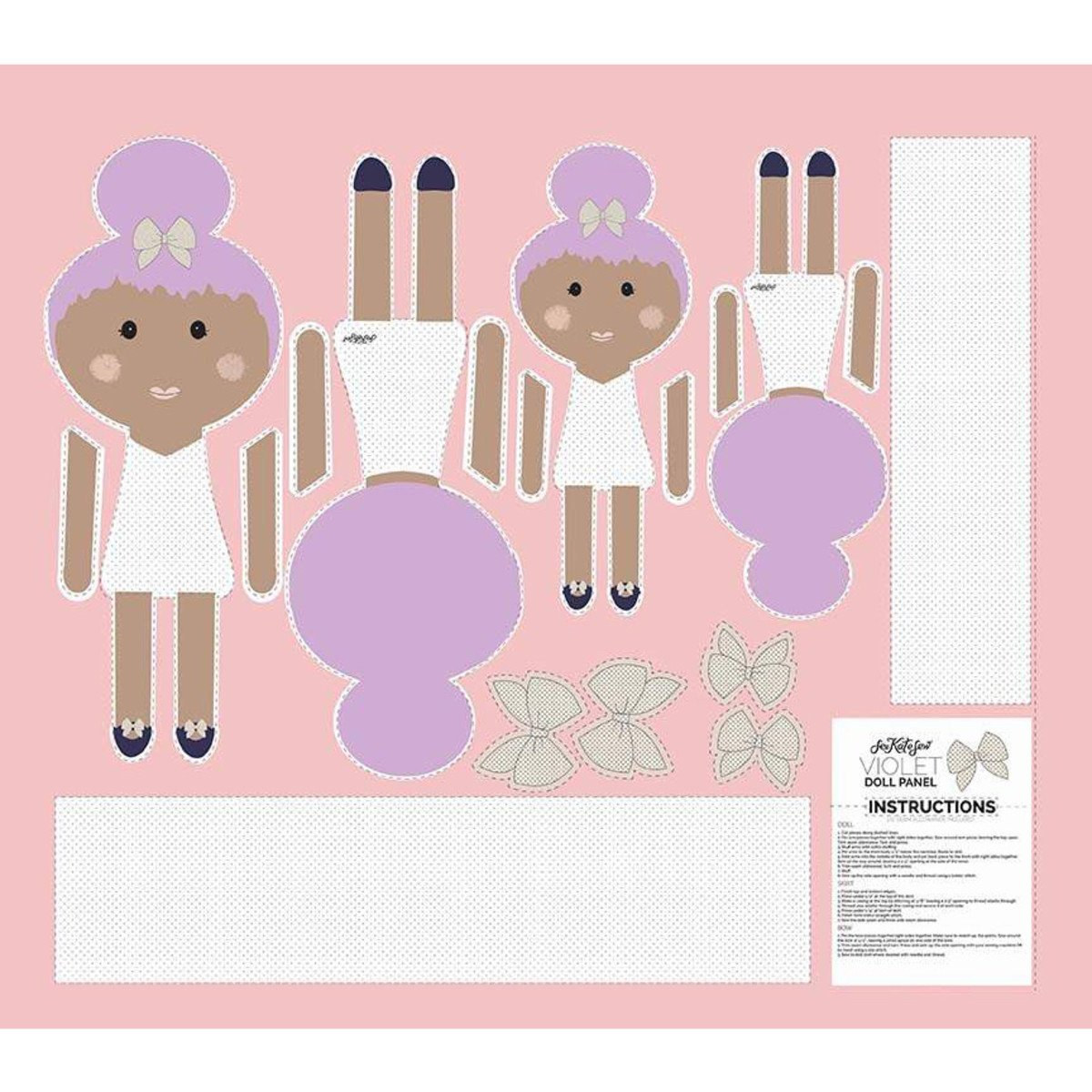 Riley Blake Top Knot Doll Panels