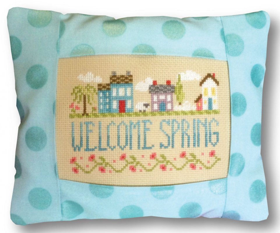 Springtime In The Village Pillow Kit