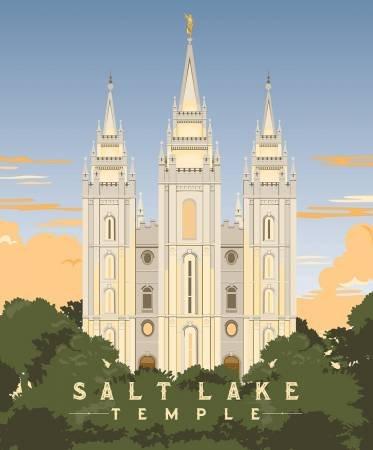 Temples Salt Lake 36in Panel