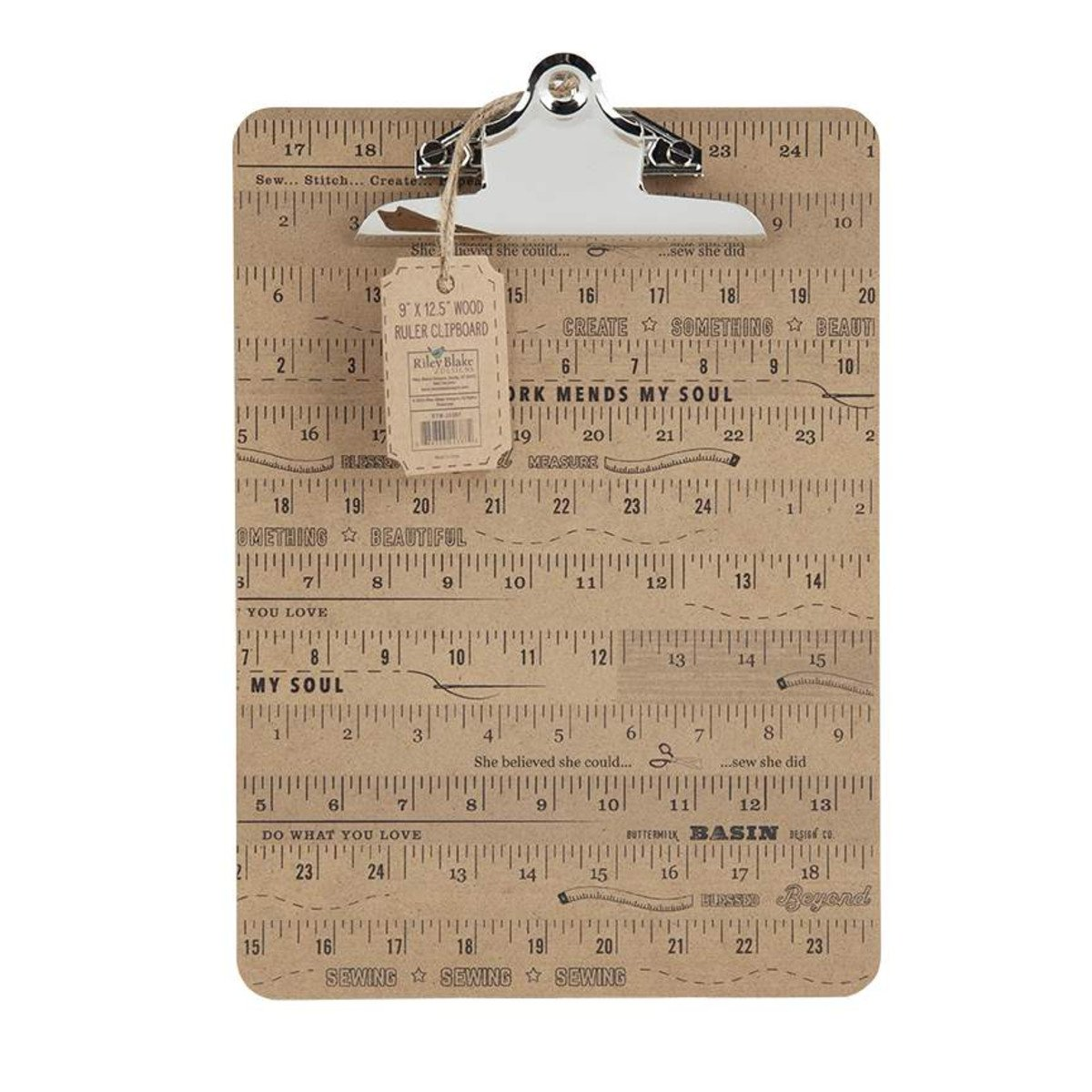 Stacy West | Buttermilk Basin Wood Ruler Clipboard Large ST-20387