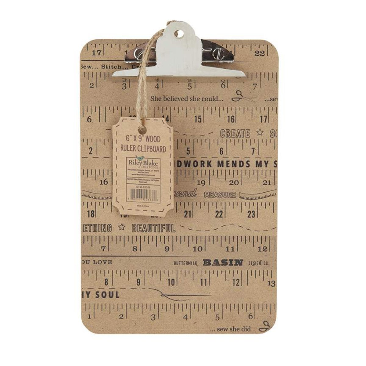 Stacy West | Buttermilk Basin Wood Ruler Clipboard Small ST-20388