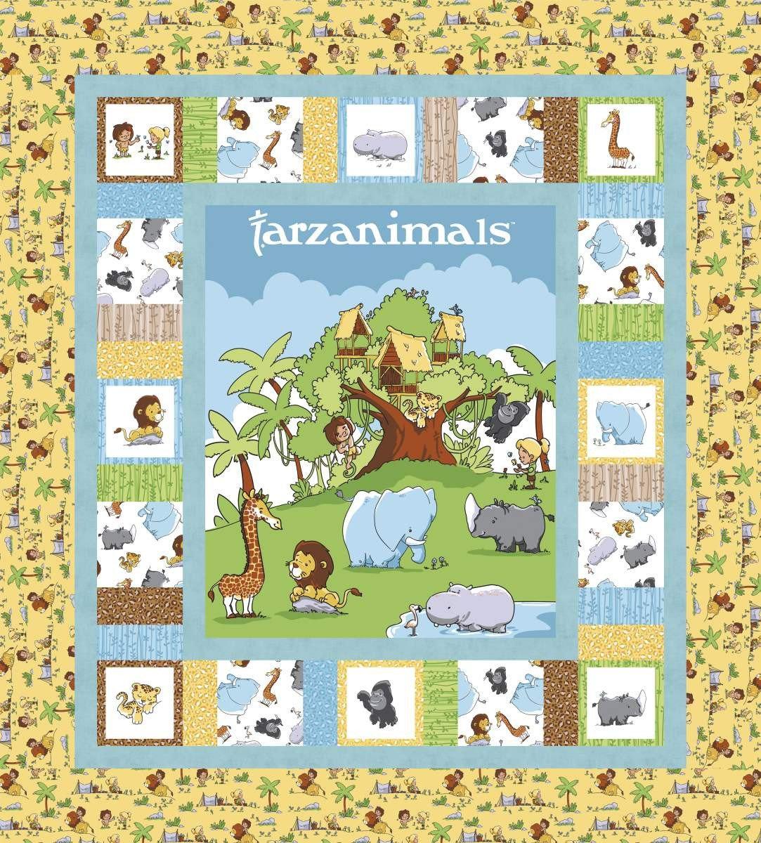 Tarzanimals Quilt Kit