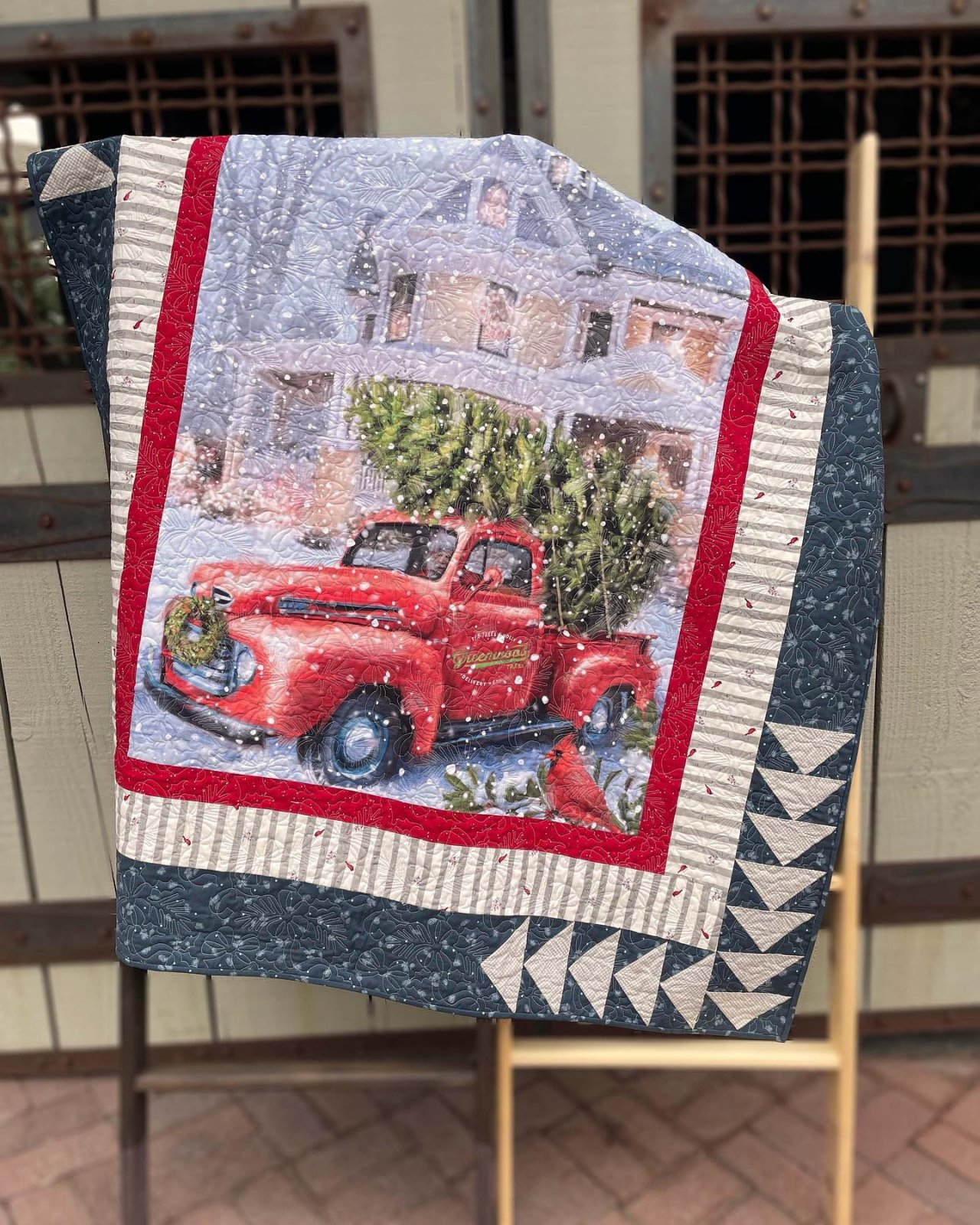 Christmas Delivery Panel Quilt Kit