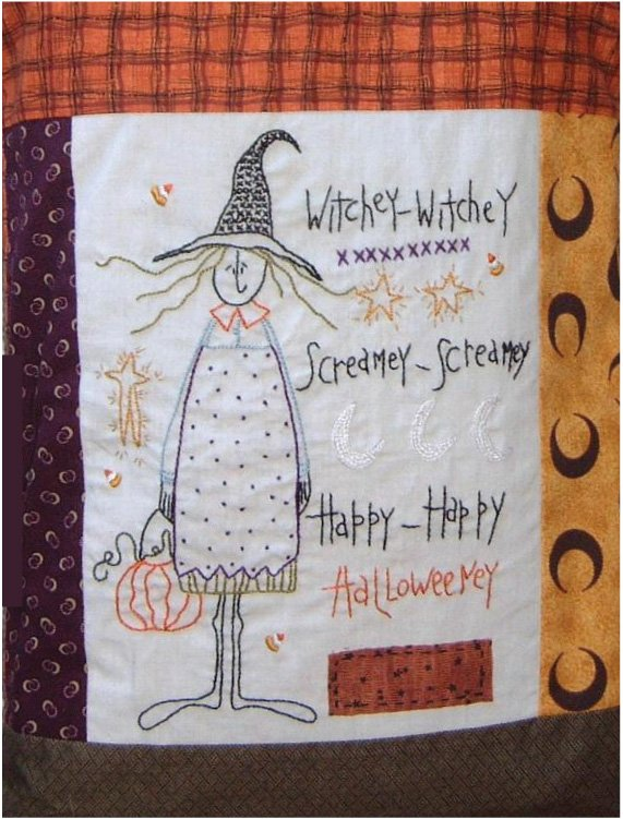 Witchey Witchey Embroidery Pattern   Digital Download