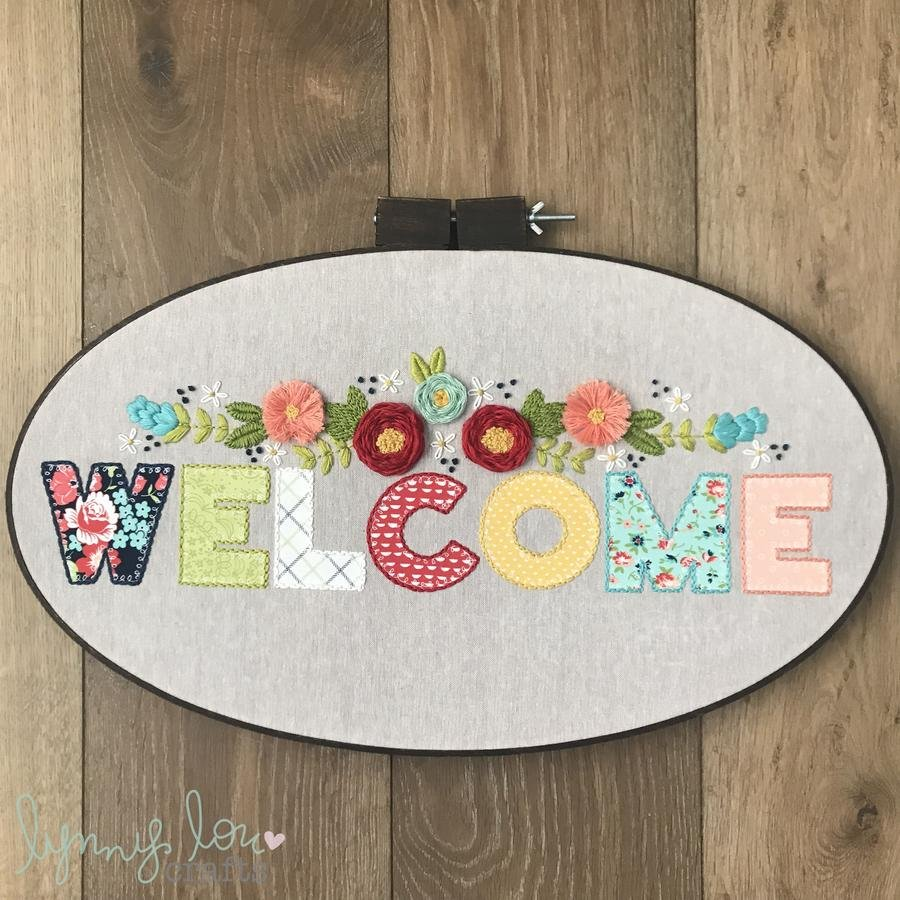 Lynny Lou - Welcome embroidery pattern