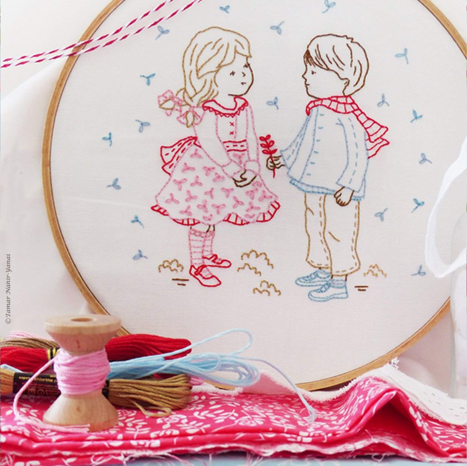 Winter Girl and Boy Embroidery Kit