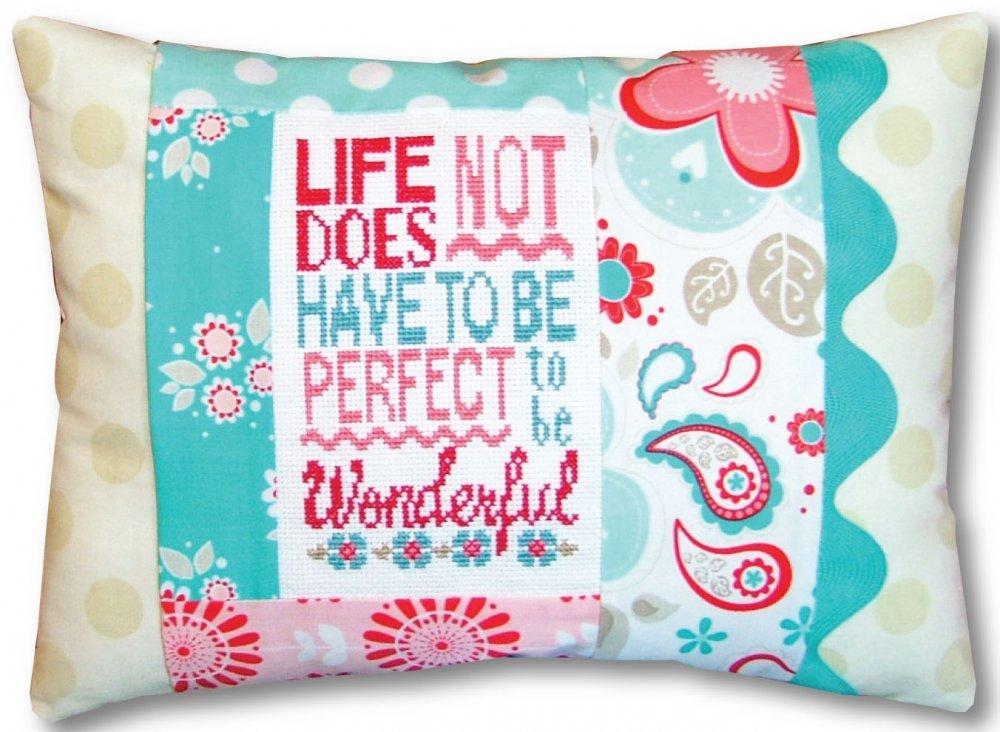 Wonderful Life Pillow Kit-Words of Wisdom