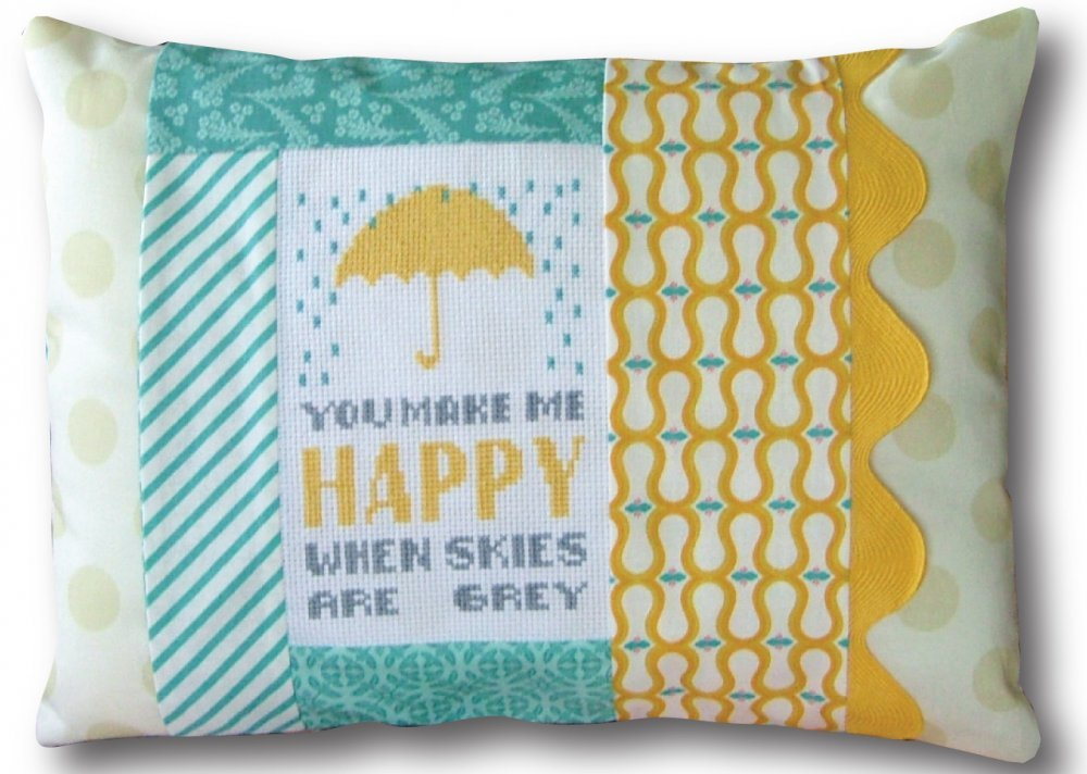 You Make Me Happy Pillow Kit-Words of Wisdom