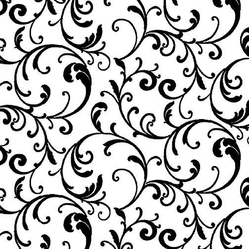 Night & Day Classic Scroll White/Black