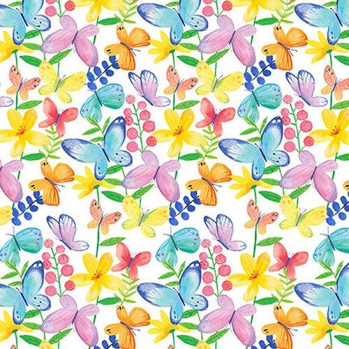 Bloom Bouquet II Butterflies White